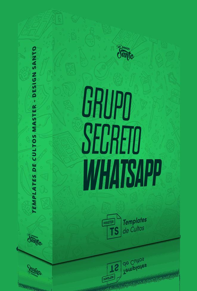 Templates de Cultos Master - Bônus Grupo Whatsapp - Design Santo