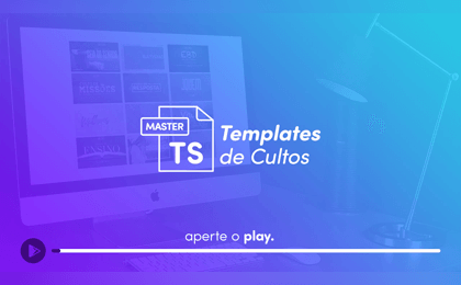 Templates de Cultos Master - Card Video