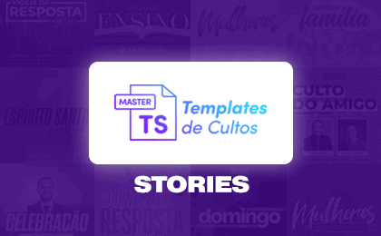 Templates de Cultos Master - Card Stories