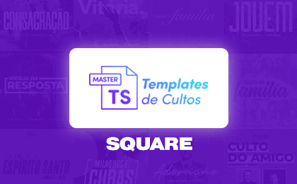 Templates de Cultos Master - Card Square